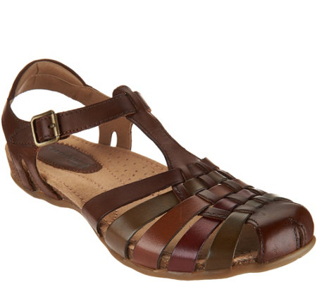 Earth Leather Fisherman Sandals - Teagan