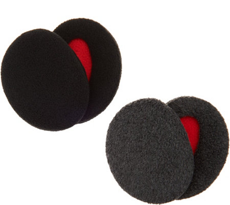 Sprigs Set of 2 Pairs Fleece Earbags Lined with Thinsulate