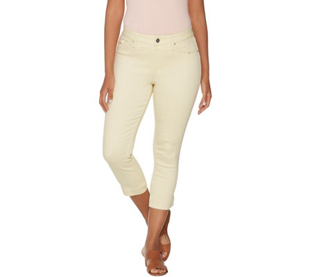 Laurie Felt Power Silky Denim Capri Pull On Jeans