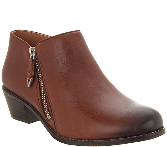 Vionic Leather Ankle Boots - Jolene