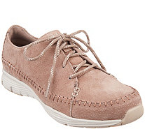 Skechers Suede Lace-Up Sneakers - Seager - A309883