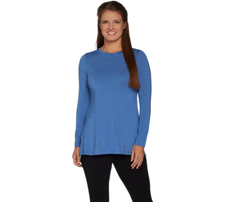 """As Is"" H by Halston Essentials Long Sleeve Crew Neck Tunic"