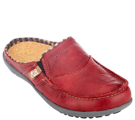 Spenco Leather Orthotic Slip-on Shoes -Siesta Slide