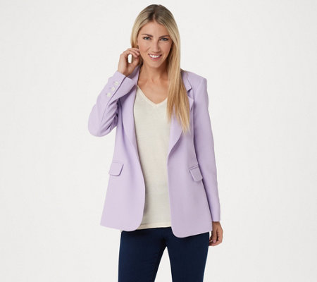 Vince Camuto Parisan Crepe Notch Collar Blazer