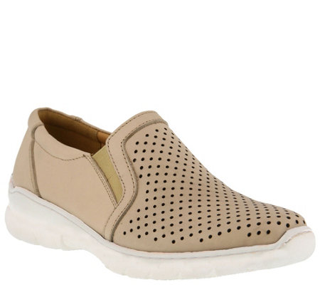 Spring Step Leather Slip On Shoes - Vernice