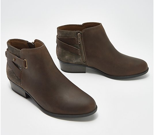 Clarks Collection Leather Booties w/ Buckles - Addiy Gladys