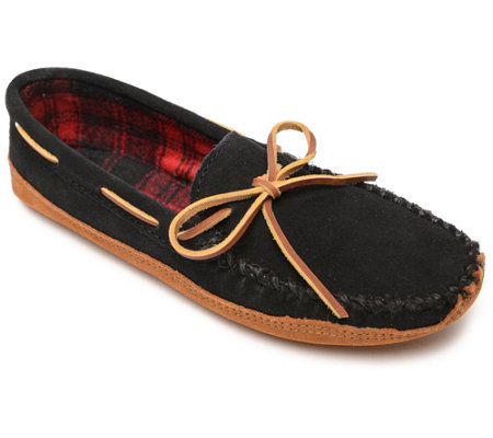 Minnetonka Men S Double Bottom Fleece Slippers