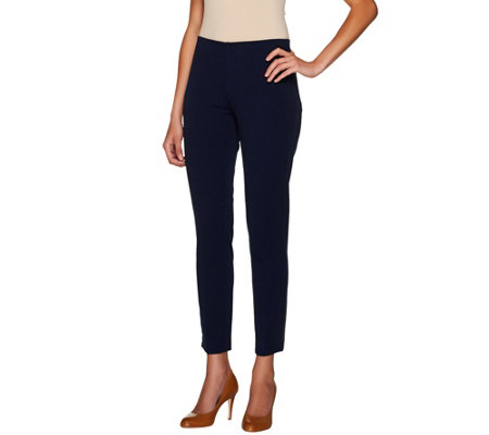 Kelly by Clinton Kelly Petite Double Stretch Pull-On Ankle Pants