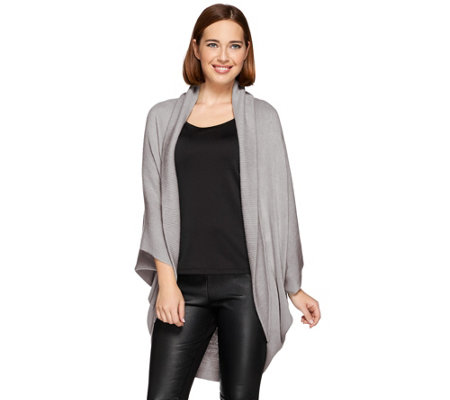 Layers by Lizden Marvelush Ribbed Shawl Collar Shrug