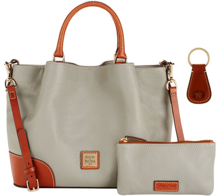 Dooney & Bourke Pebble Leather Brenna Satchel with Accessories