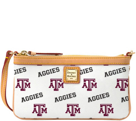 Dooney & Bourke NCAA Texas A&M University Slim Wristlet