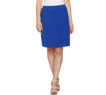 Susan Graver Textured Liquid Knit Skort