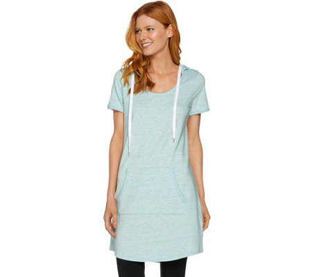 AnyBody Loungewear Cozy Knit French Terry Short Sleeve Tunic