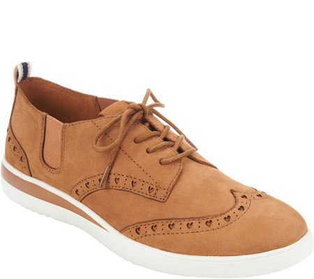 ED Ellen DeGeneres Leather Lace-up Sneakers - Averie