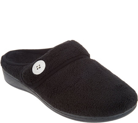 Vionic Adjustable Strap Slippers - Sadie