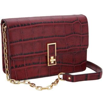G I L Leather Turnlock Shoulder Bag A299084