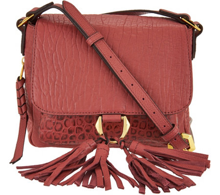 """As Is"" orYANY Lamb Leather Crossbody Bag- Daisy"