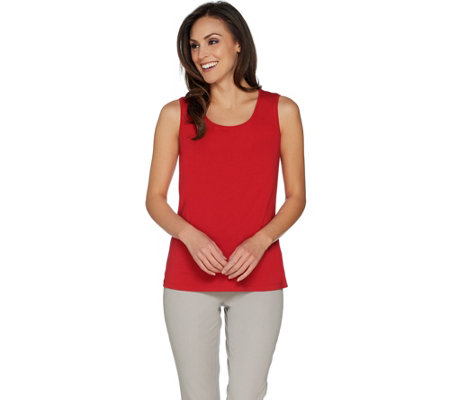 Susan Graver Modern Essentials Stretch Cotton Modal Tank Top
