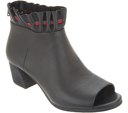 Lori Goldstein Collection Open Toe Booties with Ruching