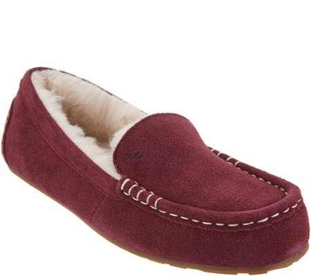 14a052f1aab Koolaburra by UGG Suede Faux Fur Slippers - Lezly — QVC.com