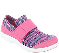 TRAQ by Alegria Knit Slip-On Shoes with Cross Strap - QWik - A342484