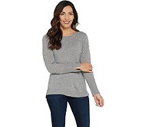 Isaac Mizrahi Live! 2-Ply Cashmere Faux Pearl Sweater - A343884