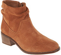 Vionic Suede Slouch Ankle Boots - Kanela - A344184