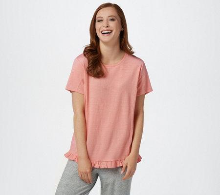 Anybody Crinkle Knit T Shirt With Ruffle Hem
