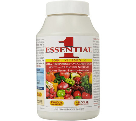 Andrew Lessman Essential-1 with Vitamin D3-2000 360 Capsules