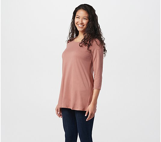 "LOGO Principles by Lori Goldstein ""The Tee"" Scoop Neck Top"