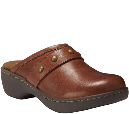 Eastland Leather Open Back Clogs Gabriella