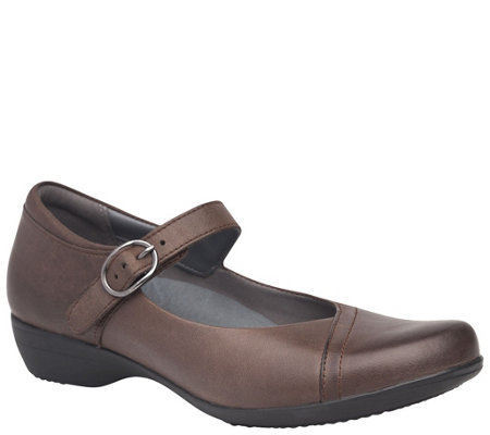 Dansko Leather Mary Janes - Fawna