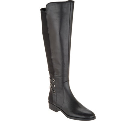 As Is Vince Camuto Wide Calf Leather Or Suede Tall Shaft Boots
