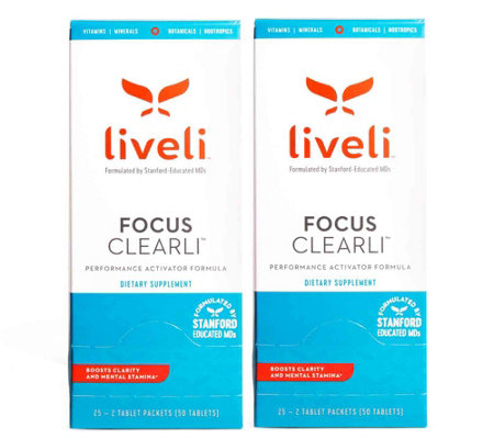 Liveli Focus Clearli Supplement 2 Month Supply