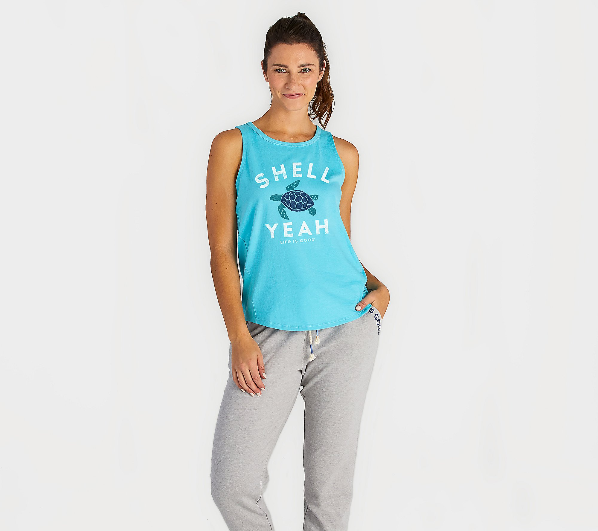 Life is Good Womens Graphic Tank Tops High-Low Collection