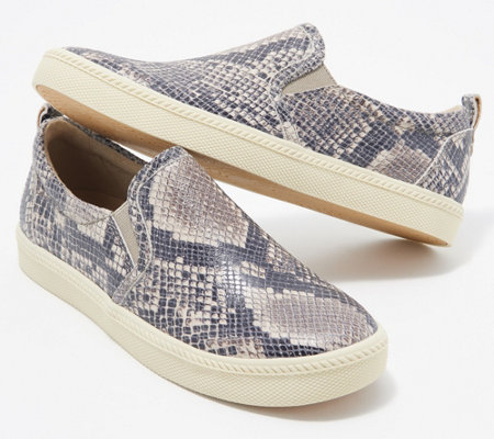 Earth Leather Slip-On Sneakers - Zen Groove