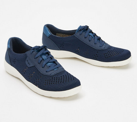 Earth Origins Knit Lace-Up Sneakers - Paxton Petra
