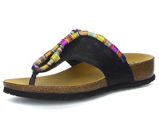 Think! Leather Thong Sandals- Julia