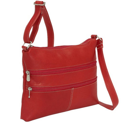 Le Donne Leather Two Zip Crossbody Bag