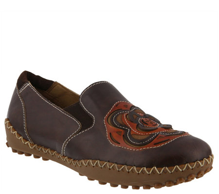 L'Artiste by Spring Step Leather Slip-On Shoes- Sandee
