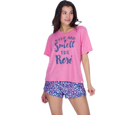 "Munki Munki ""Stop and Smell the Rose"" SleepwearT-Shirt"