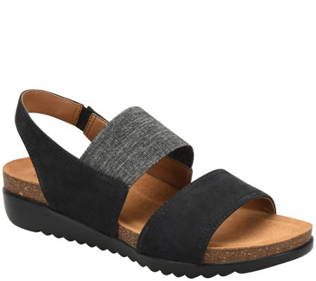 Comfortiva Cork Footbed Wedge Sandals - Elicia