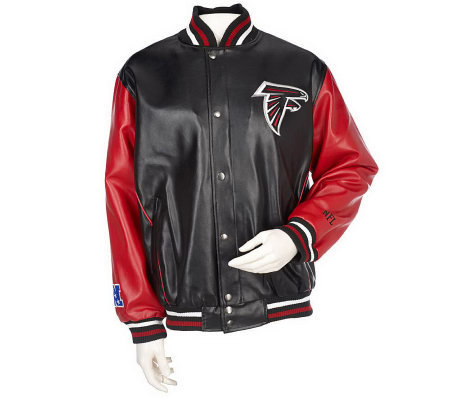 best authentic 4aa55 41a4a NFL Faux Leather Team Logo Jacket by G-III — QVC.com
