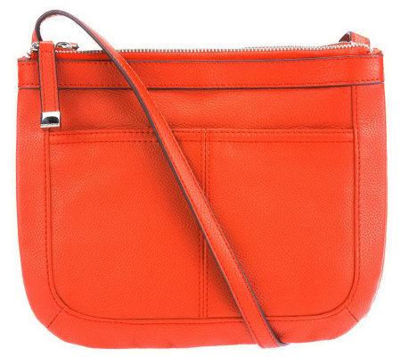 Tignanello Pebble Leather Triple Compartment Crossbody Bag