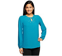 Kelly by Clinton Kelly Blouse with Beading Detail - A238385