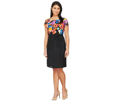 Isaac Mizrahi Live! Engineered Watercolor Print Dress