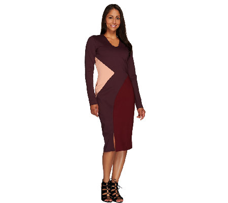 G.I.L.I. Regular Milano Ponte Color-Block Dress