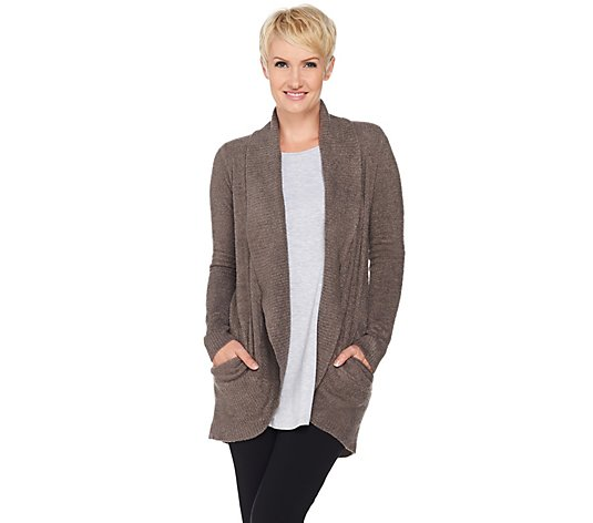 Barefoot Dreams CozyChic Lite Circle Cardi with Pockets
