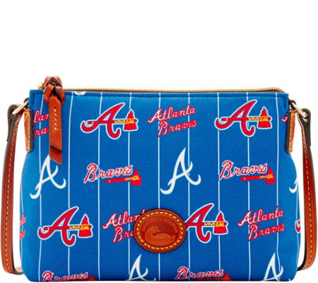 Dooney & Bourke MLB Nylon Braves Crossbody Pouchette