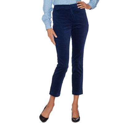 C. Wonder Velvet Slim Leg Ankle Pants